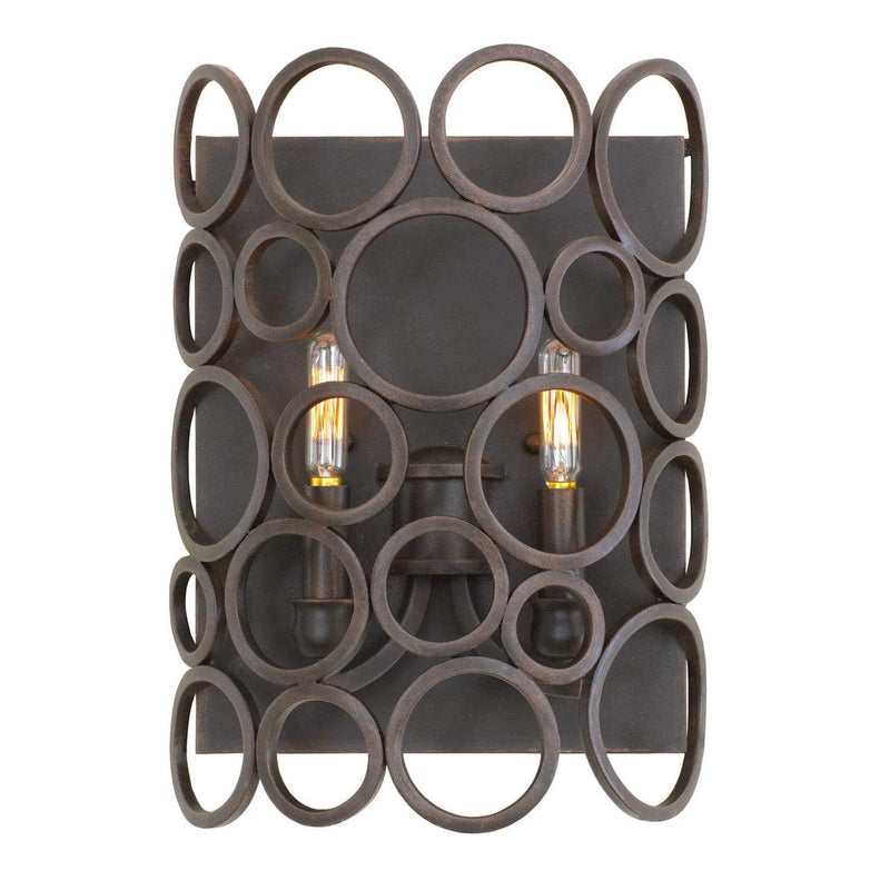 Kalco Lighting Wall Sconces Heirloom Bronze Ashbourne 2 Light Ada Wall Sconce By Kalco Lighting 2763