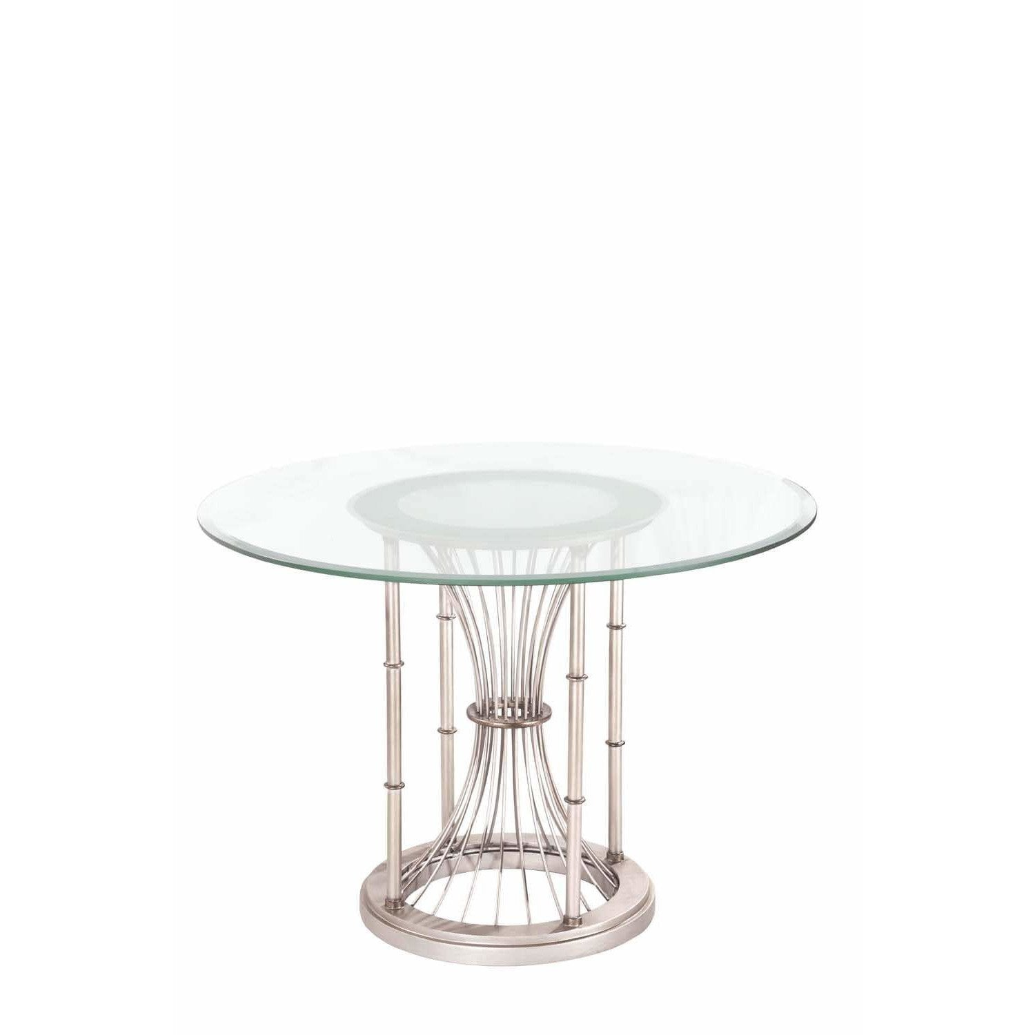 Kalco Lighting Dining Tables Pearl Silver Bal Harbour Dining Table By Kalco Lighting 800102