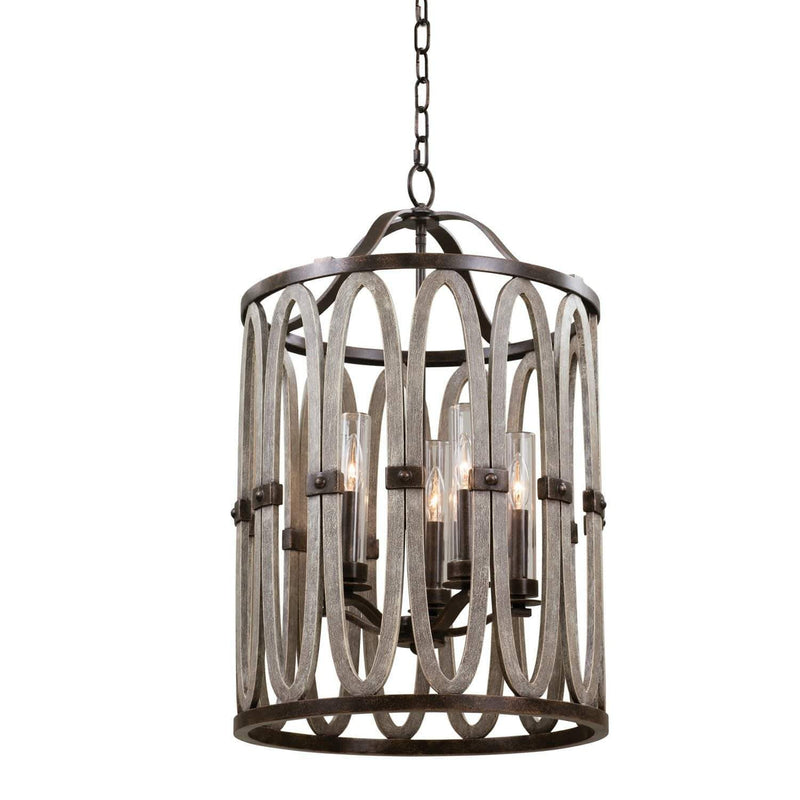 Kalco Lighting Foyers Florence Gold / Threaded Clear Cylinder Belmont 19 Inch Outdoor Foyer By Kalco Lighting 404451
