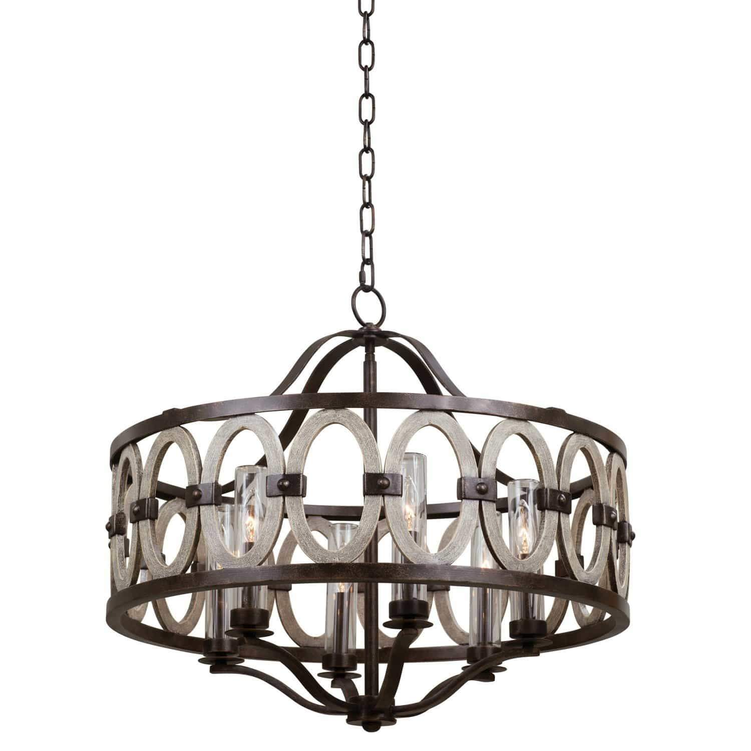 Kalco Lighting Pendants Florence Gold / Threaded Clear Cylinder Belmont 28 Inch Outdoor Pendant By Kalco Lighting 404452