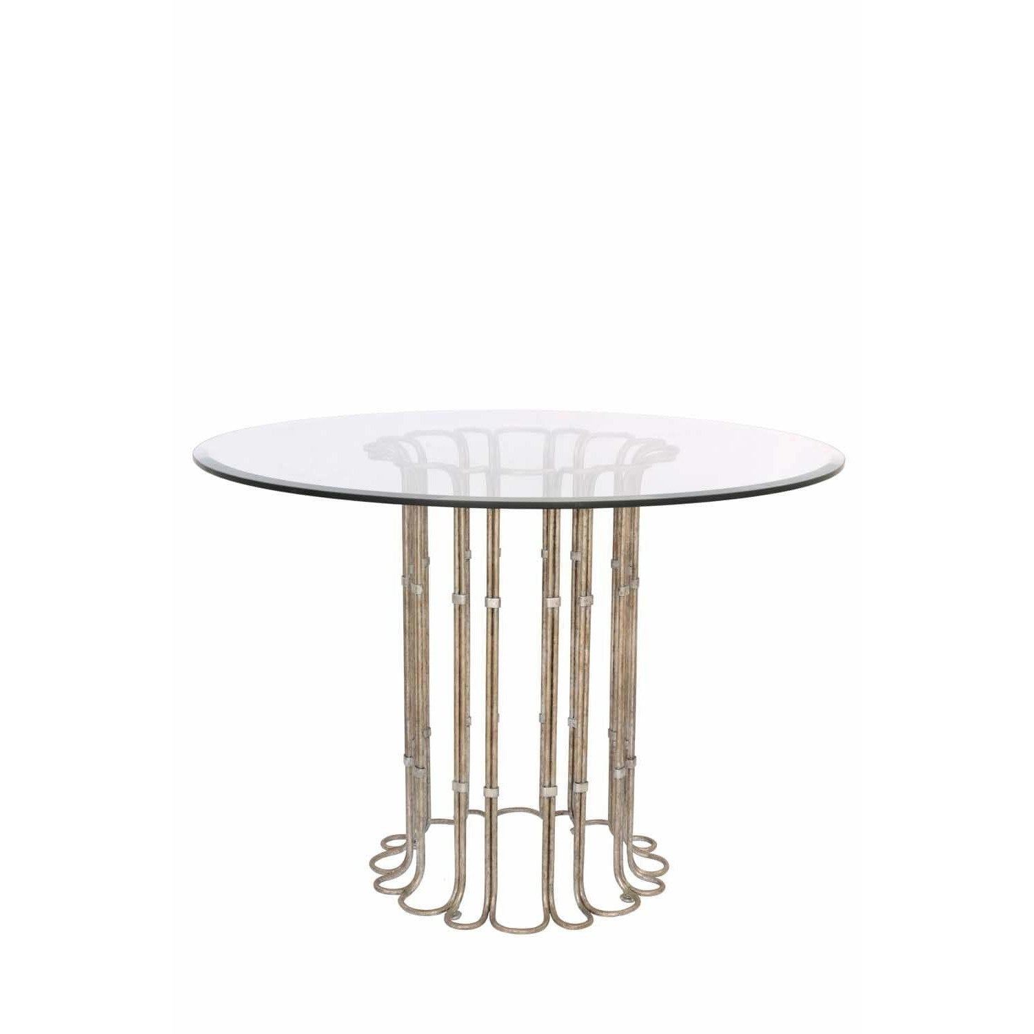 Kalco Lighting Dining Tables Platinum Biscayne 42 Inch Dining Table By Kalco Lighting 800202