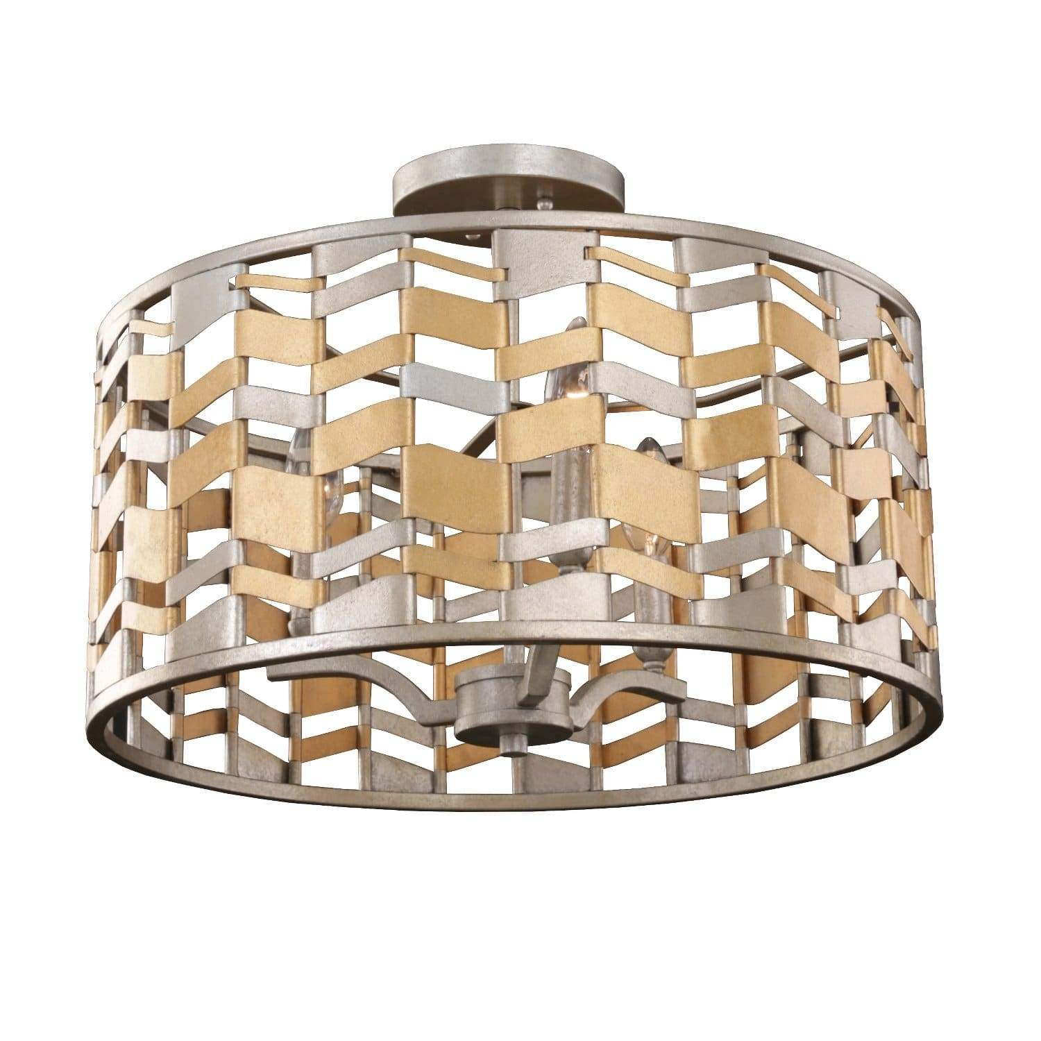 Kalco Lighting Pendants Jewel Metallic Broadway 19 Inch Convertible Pendant - Semi Flush Mount By Kalco Lighting 503940
