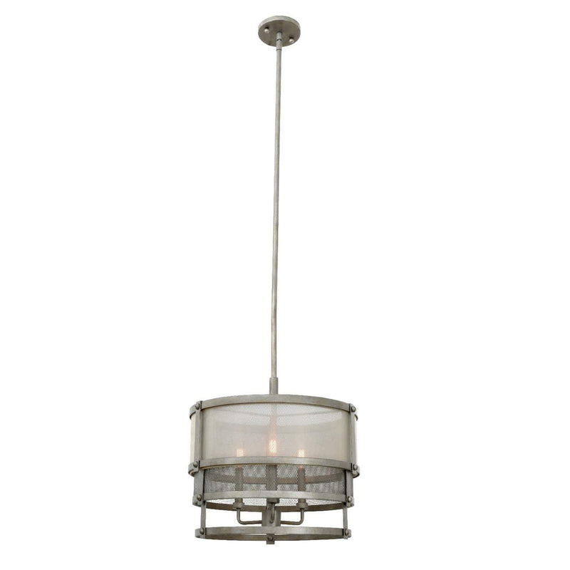 Kalco Lighting Pendants Bronze Jewel Tone Delano 18 Inch Convertible Pendant - Semi Flush Mount By Kalco Lighting 503652