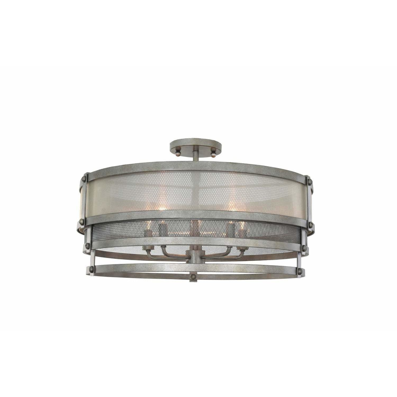 Kalco Lighting Semi Flush Mounts Bronze Jewel Tone Delano 24 Inch Semi Flush Mount By Kalco Lighting 503640