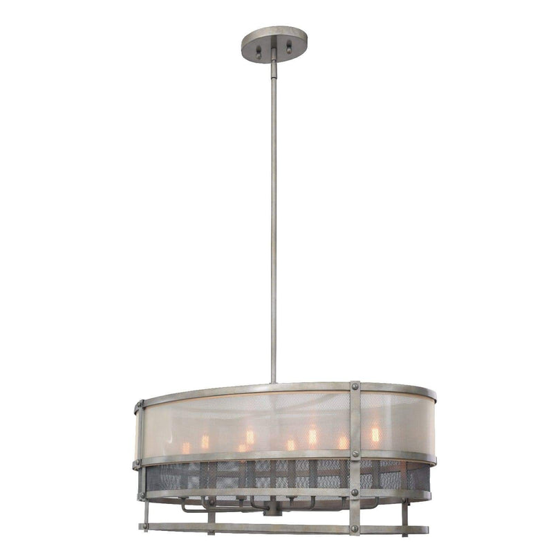 Kalco Lighting Pendants Bronze Jewel Tone Delano 36 Inch Oval Pendant By Kalco Lighting 503654