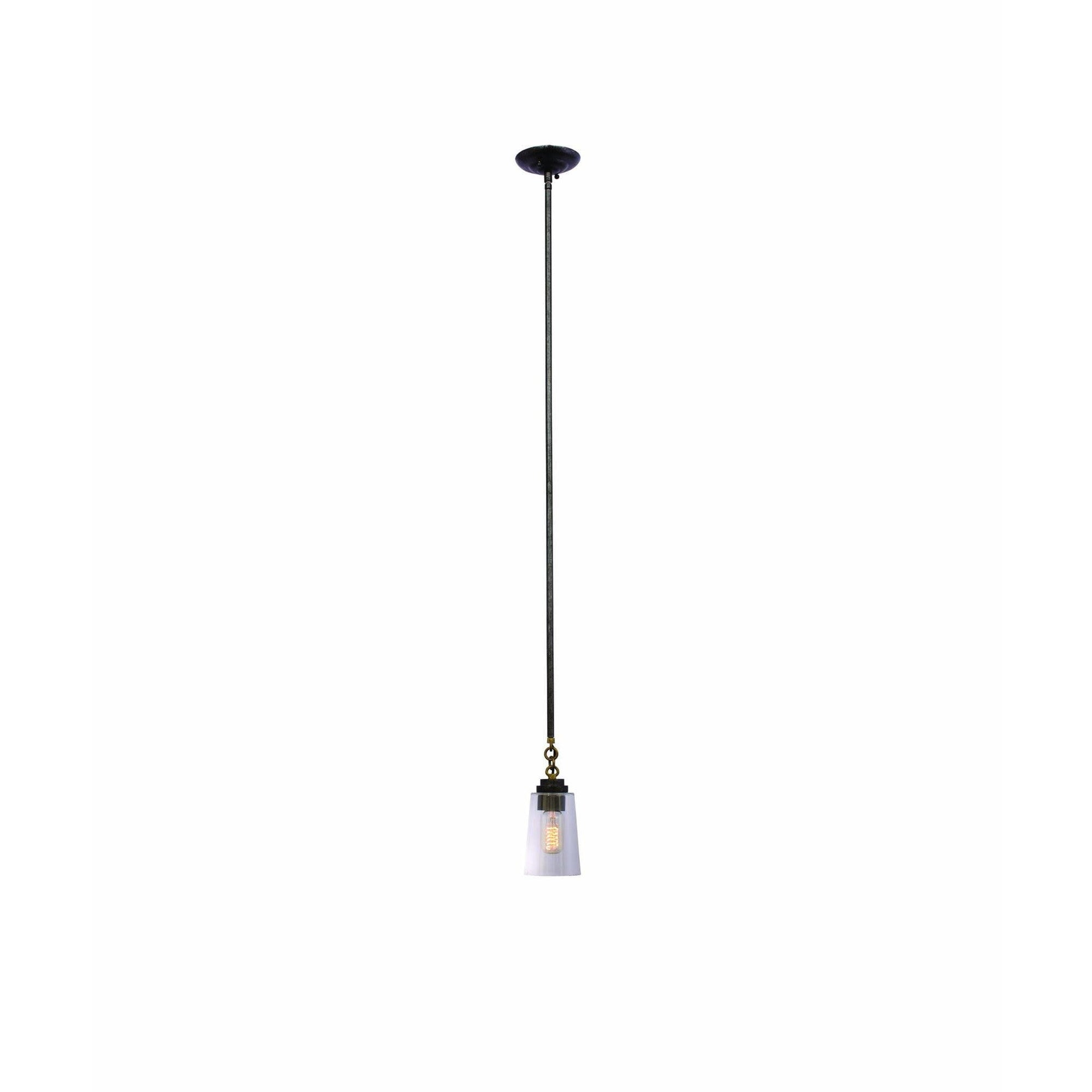 Kalco Lighting Mini Pendants Milled Iron Dillon 1 Light Mini Pendant By Kalco Lighting 504911