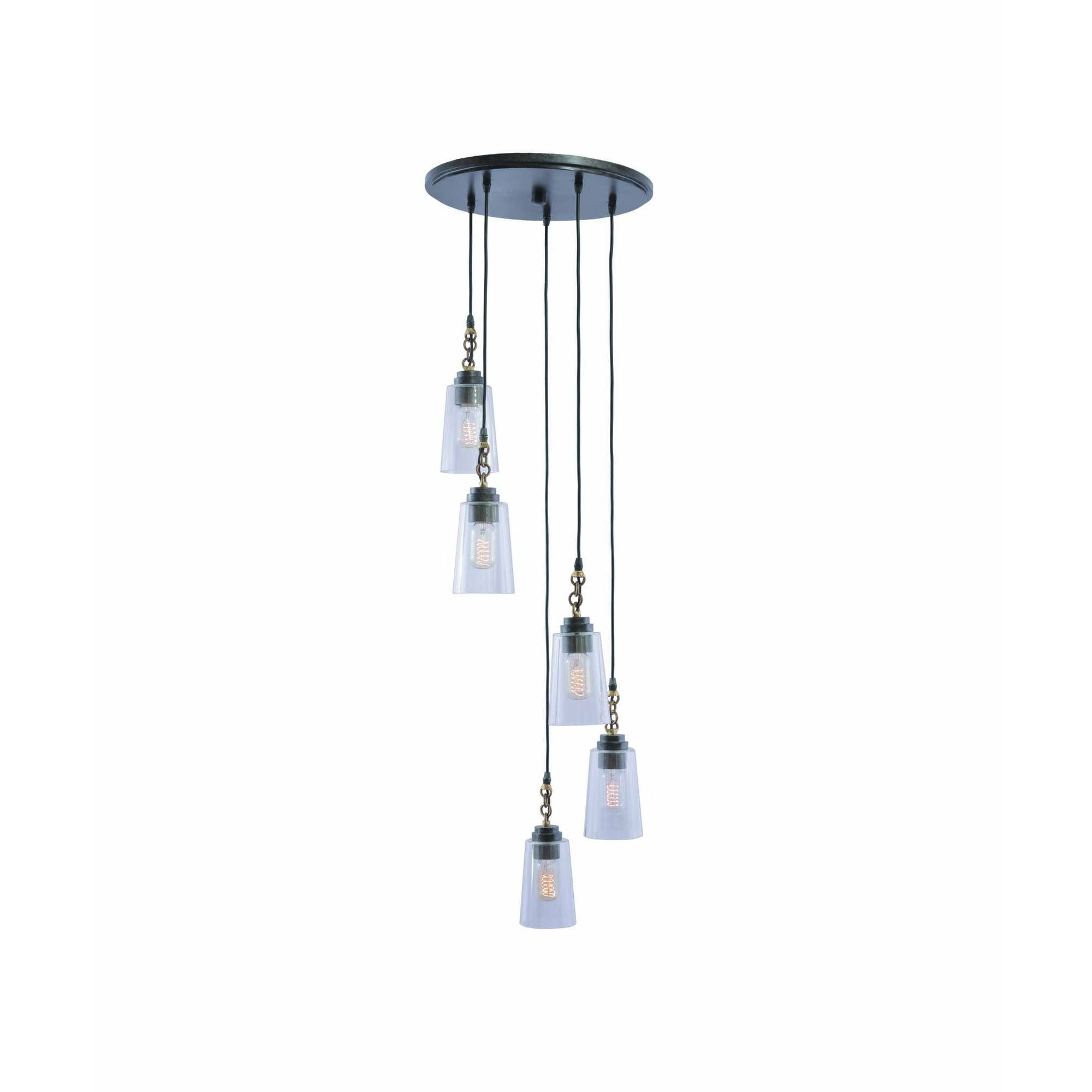 Kalco Lighting Pendants Milled Iron Dillon 5 Light Cluster Pendant By Kalco Lighting 504951