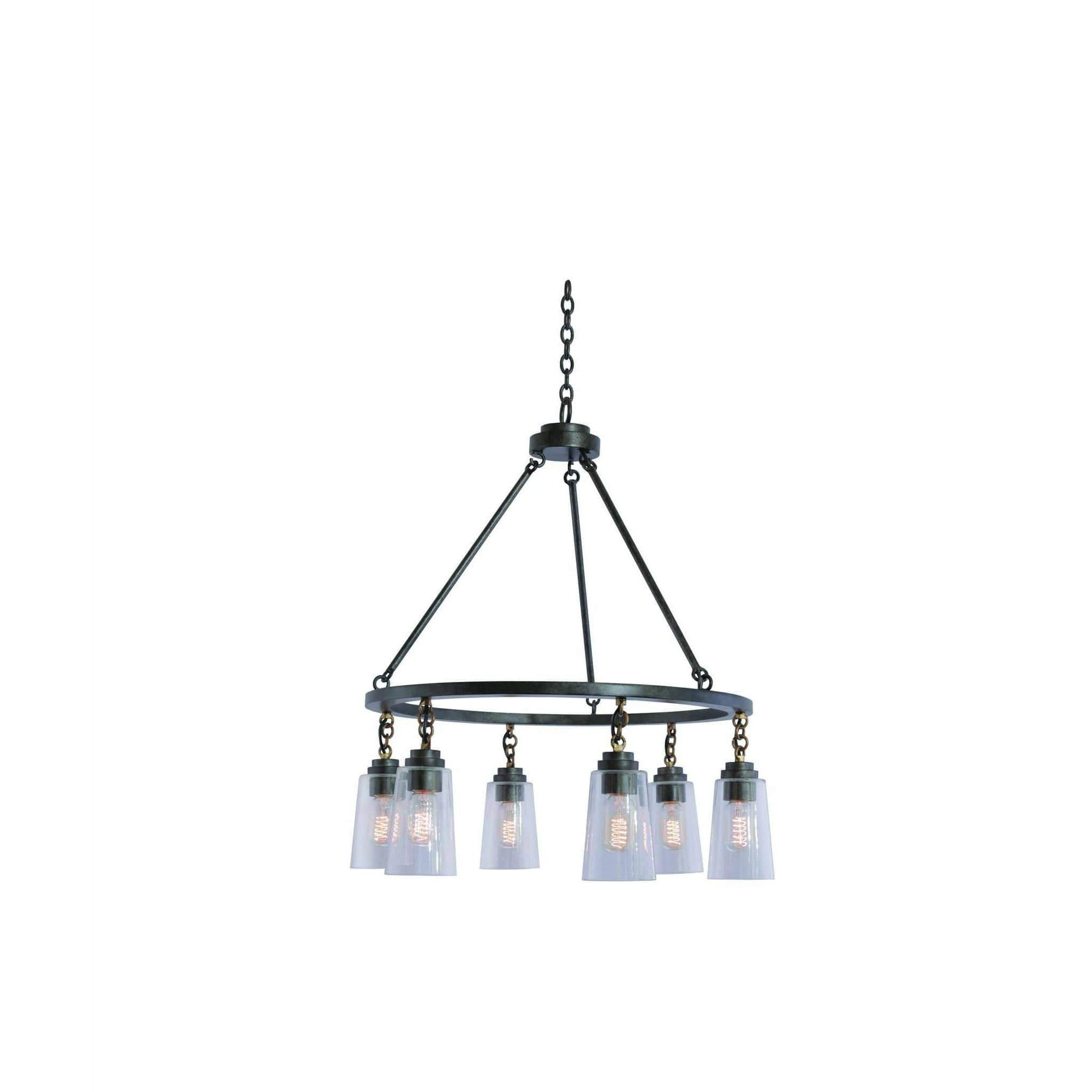 Kalco Lighting Pendants Milled Iron Dillon 6 Light Pendant By Kalco Lighting 504952