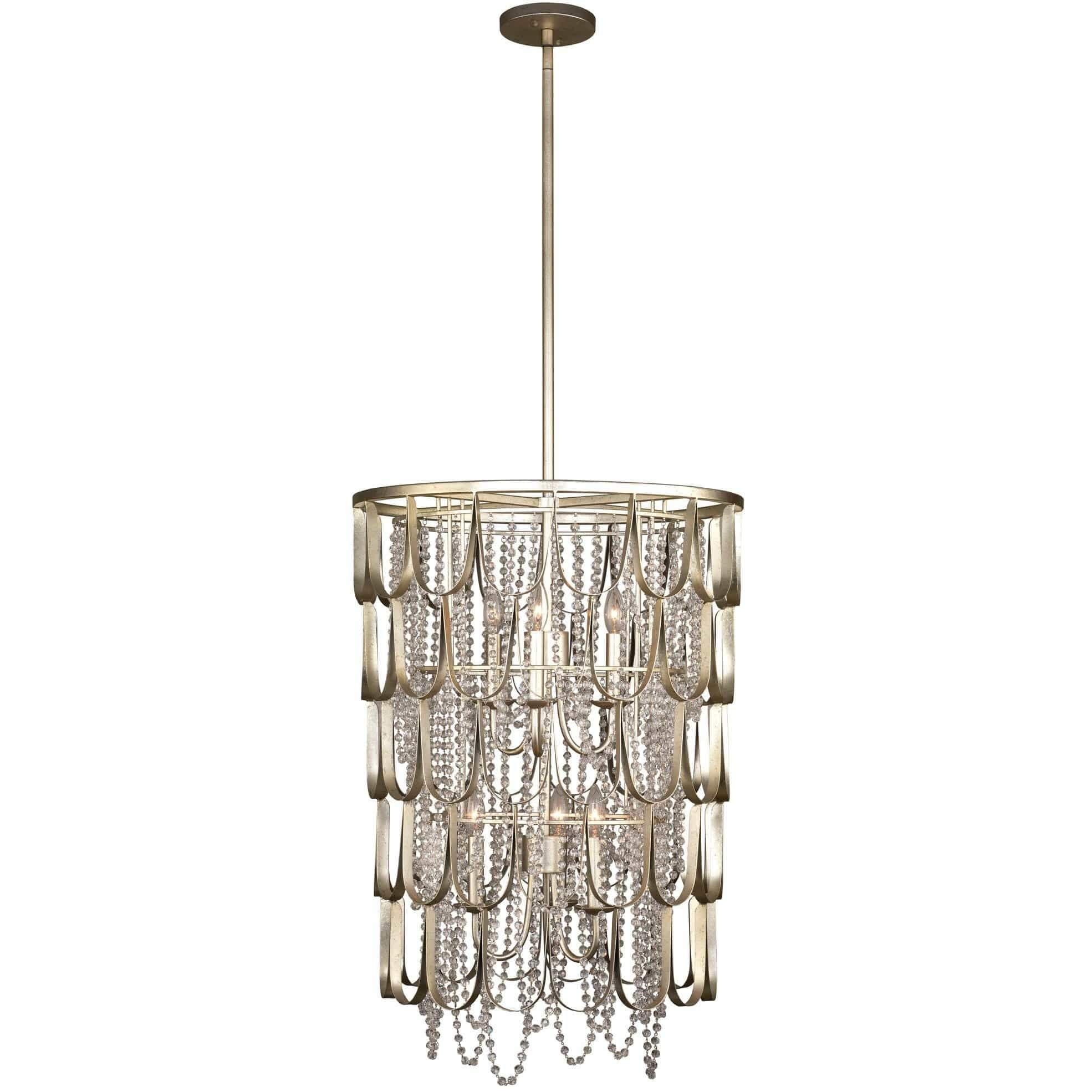 Kalco Lighting Foyers Champagne Silver Leaf Dulce 22 Inch Foyer By Kalco Lighting 508850