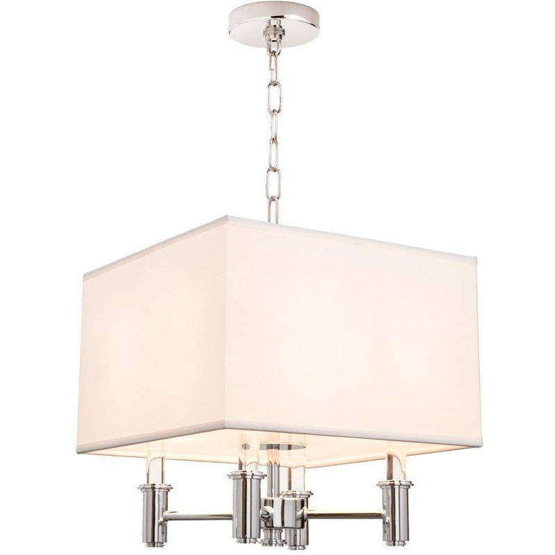 Kalco Lighting Pendants Chrome Dupont 4 Light Square Convertible Pendant - Semi Flush Mount By Kalco Lighting 500570