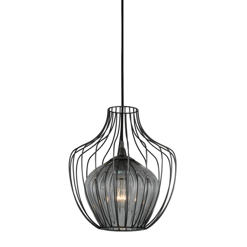 Kalco Lighting Pendants Chemical Stainless Steel / Tempered Glass Rod Emilia 12 Inch Pendant By Kalco Lighting 404850