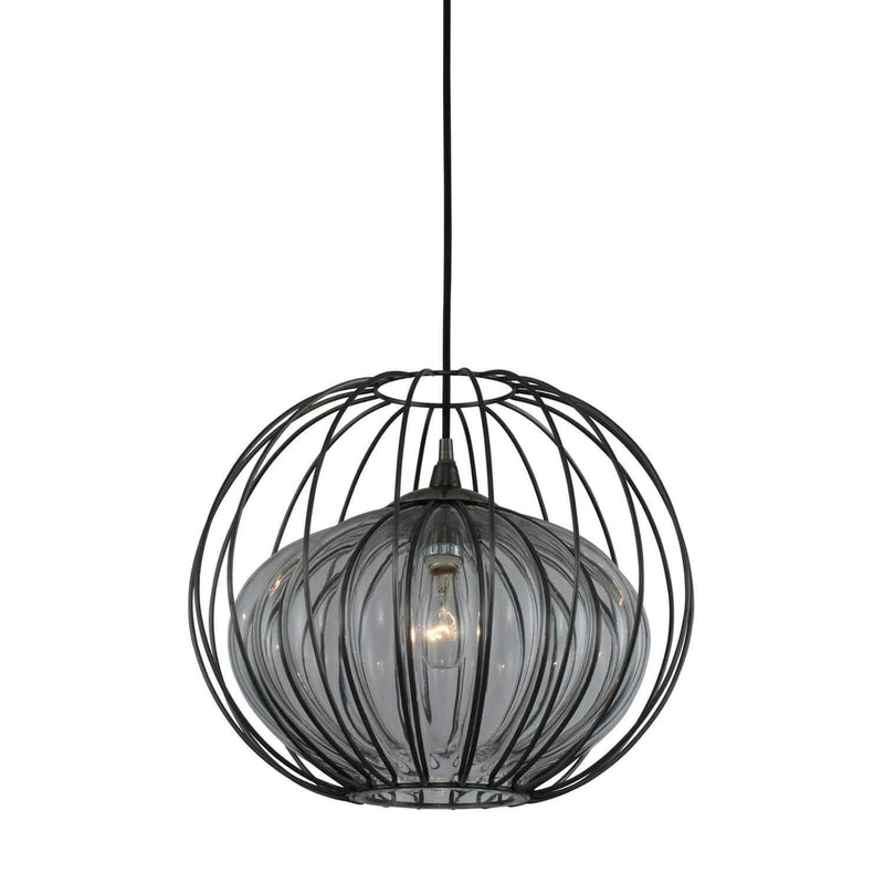 Kalco Lighting Pendants Chemical Stainless Steel / Tempered Glass Rod Emilia 15 Inch Pendant By Kalco Lighting 404851