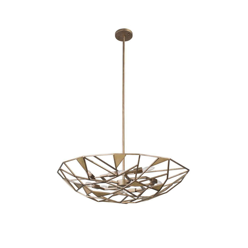 Kalco Lighting Pendants Pearlized Antique Brass Esmeralda 26 Inch Convertible Pendant - Semi Flush Mount By Kalco Lighting 504740