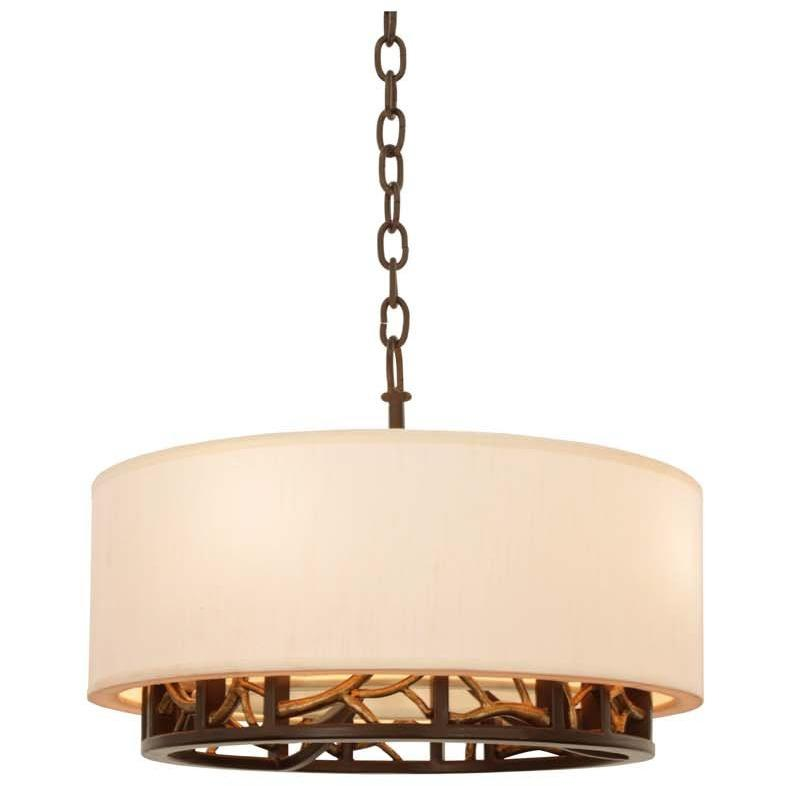 Kalco Lighting Wall Sconces Bronze Gold Hudson 18 Inch Convertible Pendant - Semi Flush Mount By Kalco Lighting 504151