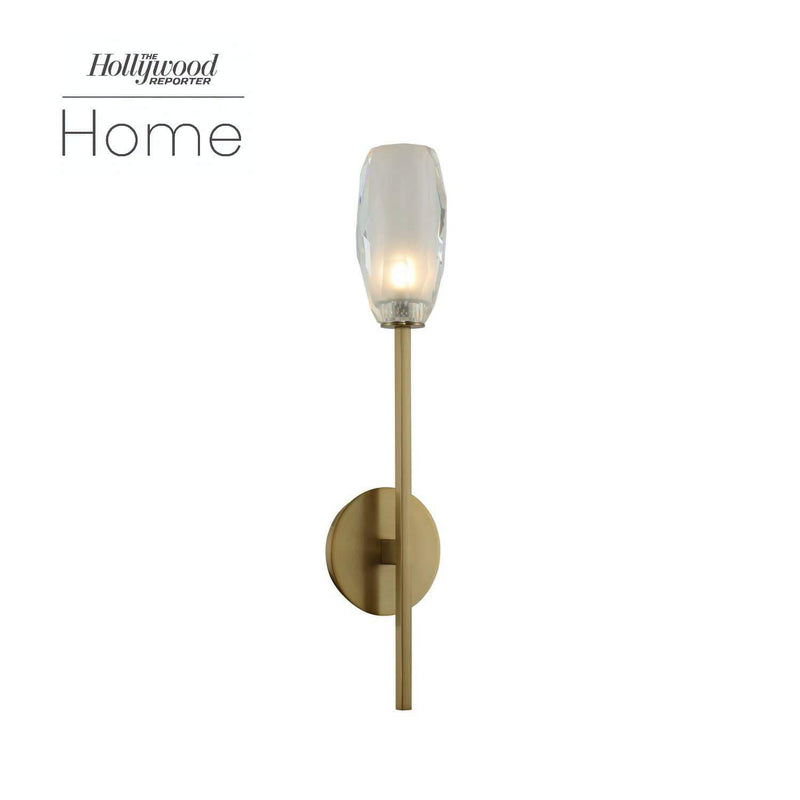 Kalco Lighting Wall Sconces Winter Brass June 1 Light Ada Wall Sconce By Kalco Lighting 511521