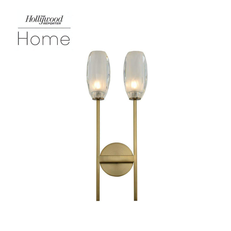 Kalco Lighting Wall Sconces Winter Brass June 2 Light Ada Wall Sonce By Kalco Lighting 511522