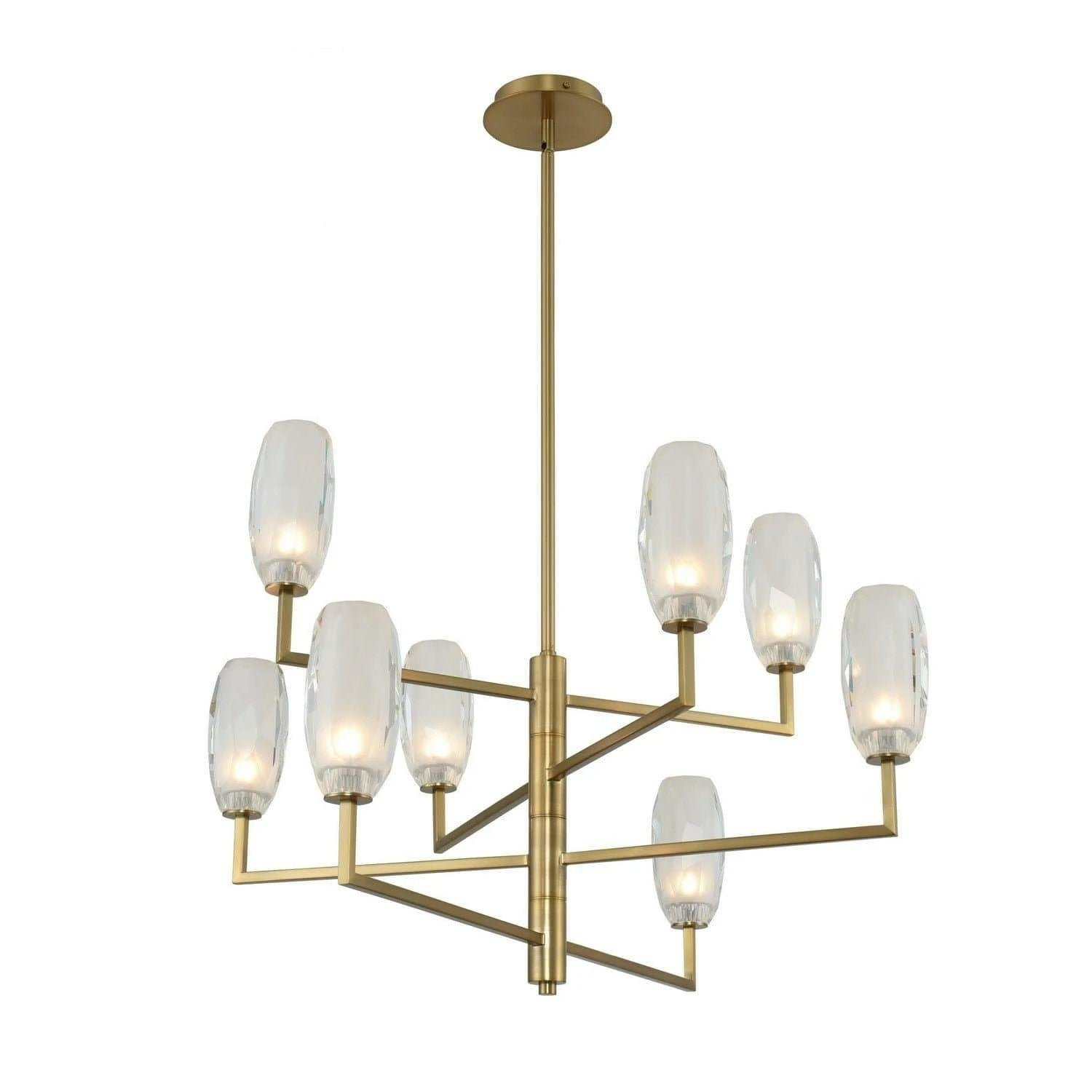 Kalco Lighting Chandeliers Winter Brass June 8 Light Chandelier By Kalco Lighting 511571