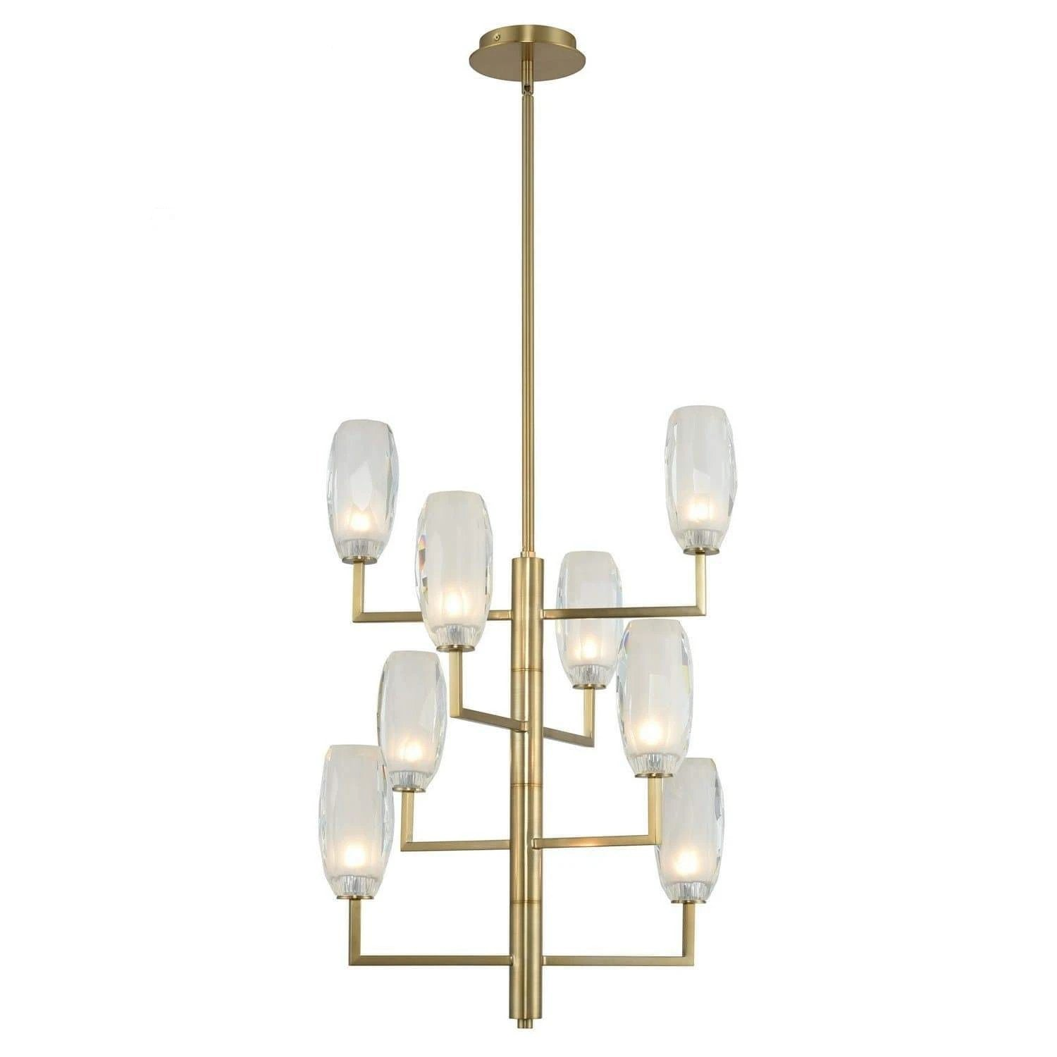 Kalco Lighting Foyers Winter Brass June 8 Light Foyer By Kalco Lighting 511550