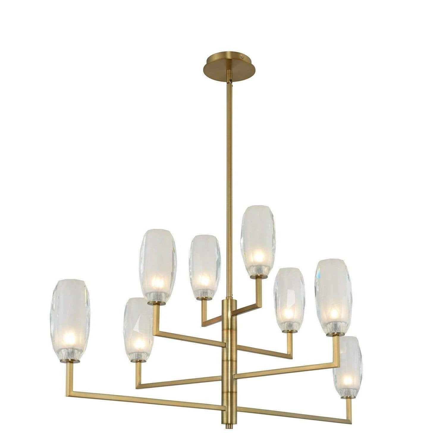 Kalco Lighting Island lighting Winter Brass June 8 Light Island By Kalco Lighting 511560