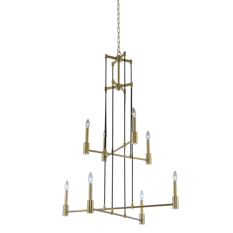 Kalco Lighting Foyers Polished Nickel Kingston (4 + 4) Light 2 Tier Foyer By Kalco Lighting 509851