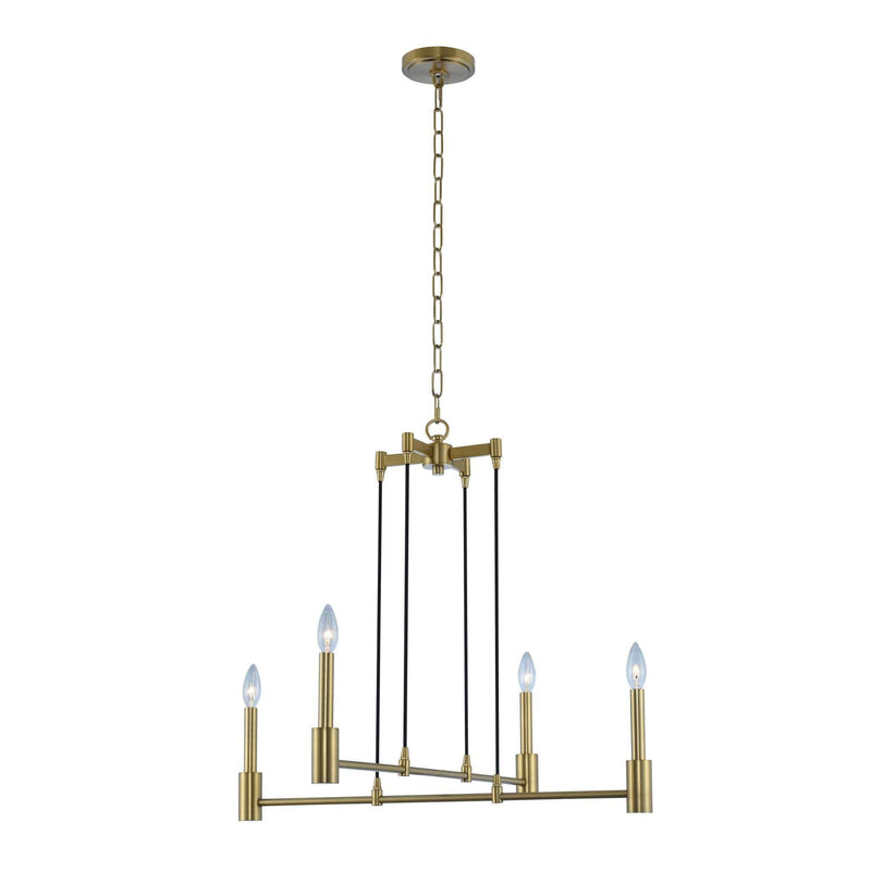 Kalco Lighting Chandeliers Polished Nickel Kingston 4 Light Chandelier By Kalco Lighting 509870
