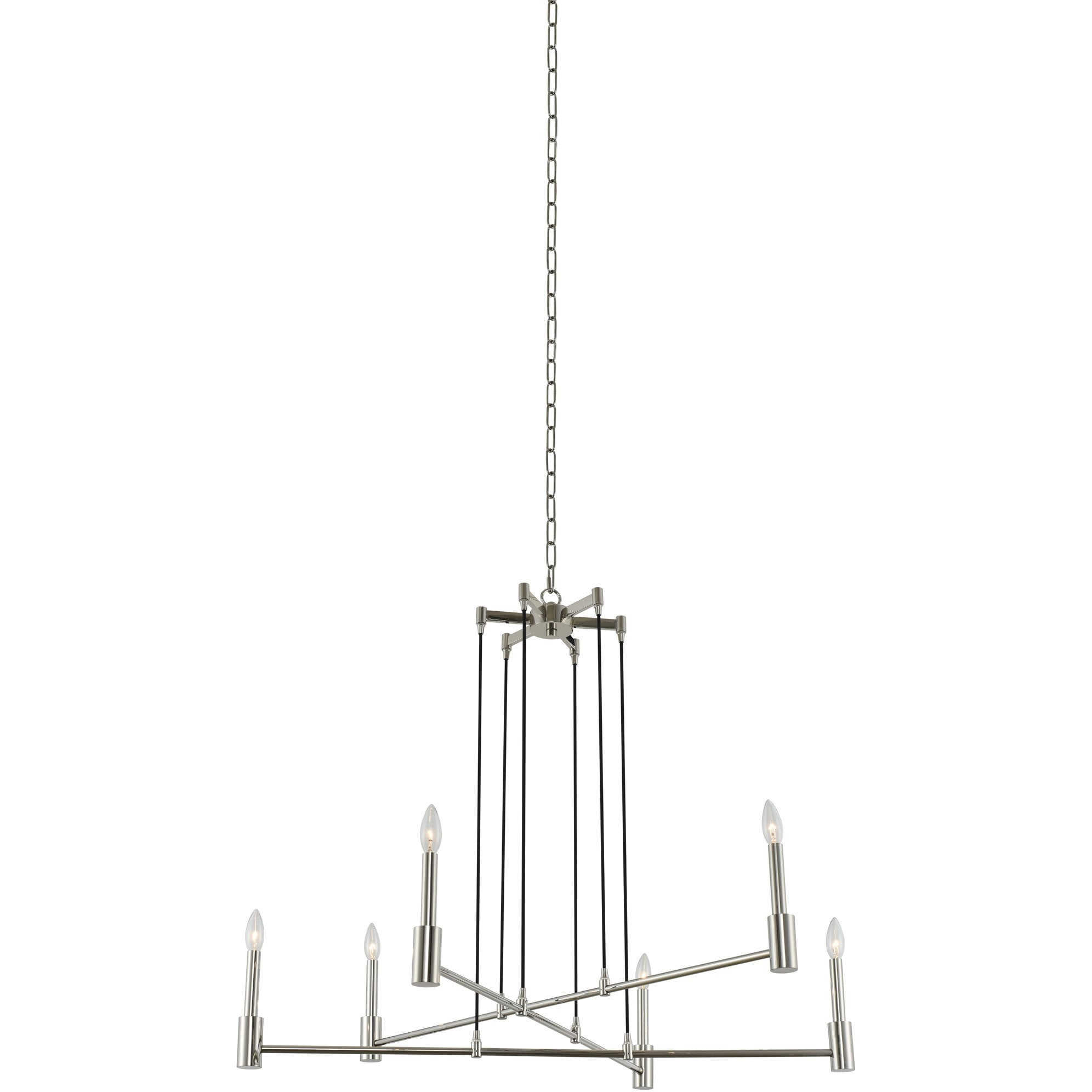 Kalco Lighting Chandeliers Polished Nickel Kingston 6 Light Chandelier By Kalco Lighting 509871