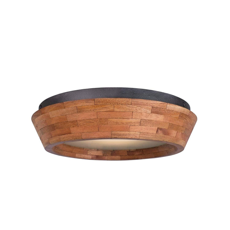 Kalco Lighting Flush Mounts Black Iron Landsdale 14 Inch Led Flush Mount By Kalco Lighting 505540