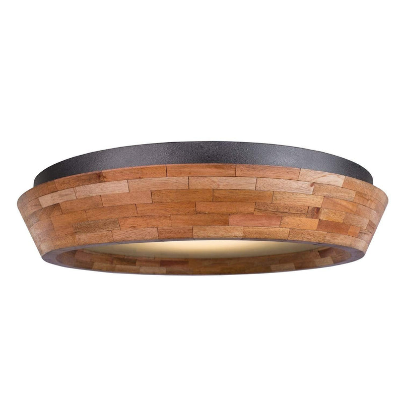 Kalco Lighting Flush Mounts Black Iron Landsdale 18 Inch Led Flush Mount By Kalco Lighting 505541