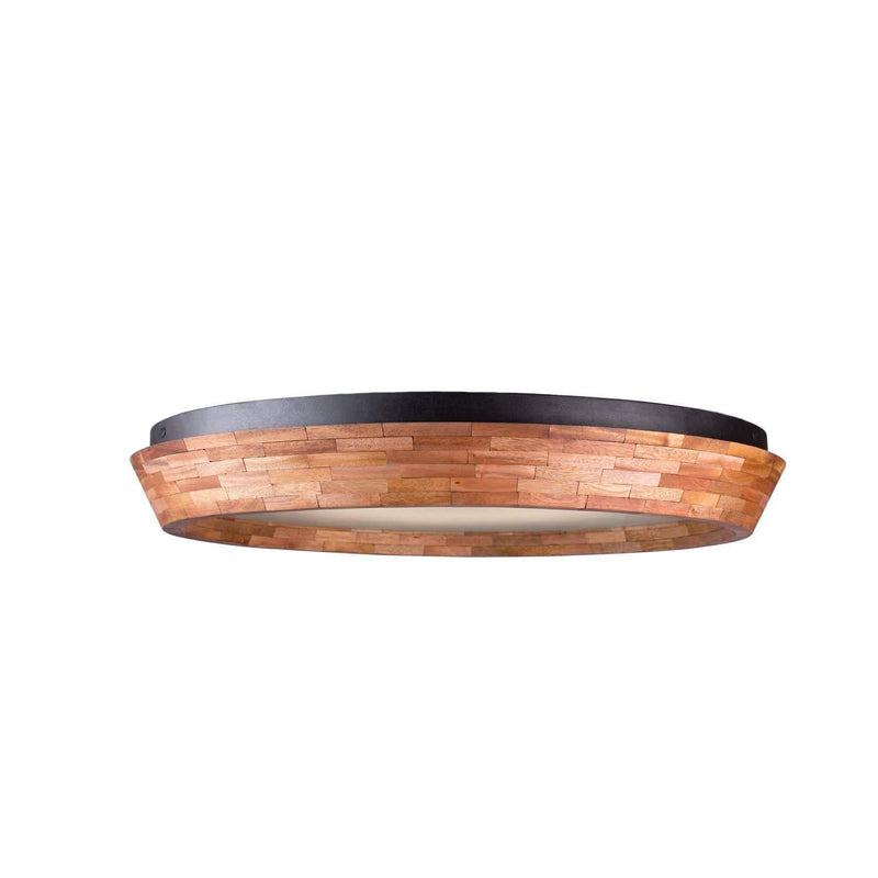 Kalco Lighting Flush Mounts Black Iron Landsdale 24 Inch Led Flush Mount By Kalco Lighting 505542