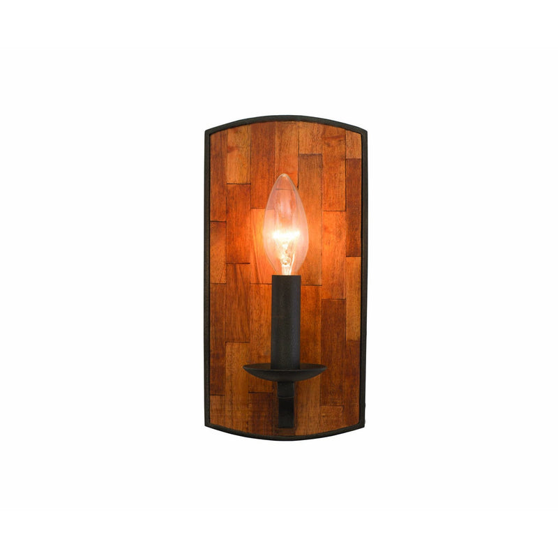 Kalco Lighting Wall Sconces Black Iron Lansdale 1 Light Ada Wall Sconce By Kalco Lighting 505521