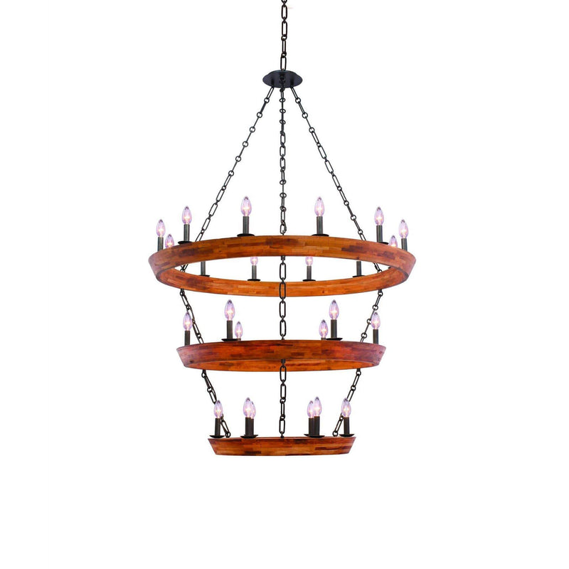 Kalco Lighting Chandeliers Black Iron Lansdale (12+6+6) Light 3 Tier Chandelier By Kalco Lighting 505554