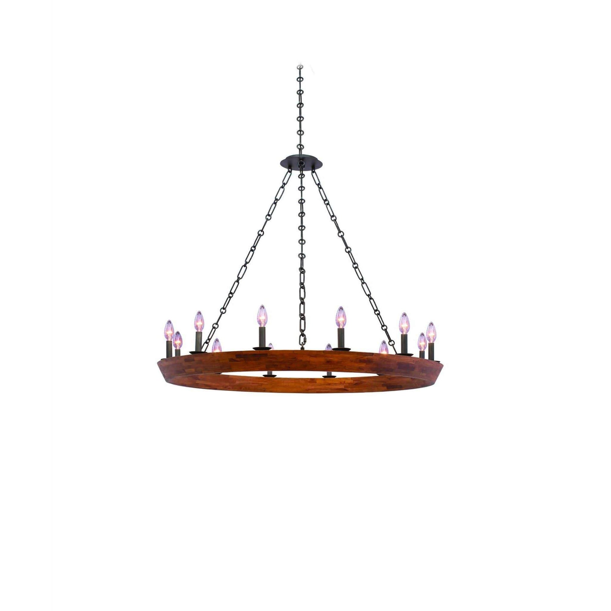 Kalco Lighting Chandeliers Black Iron Lansdale 12 Light Chandelier By Kalco Lighting 505552