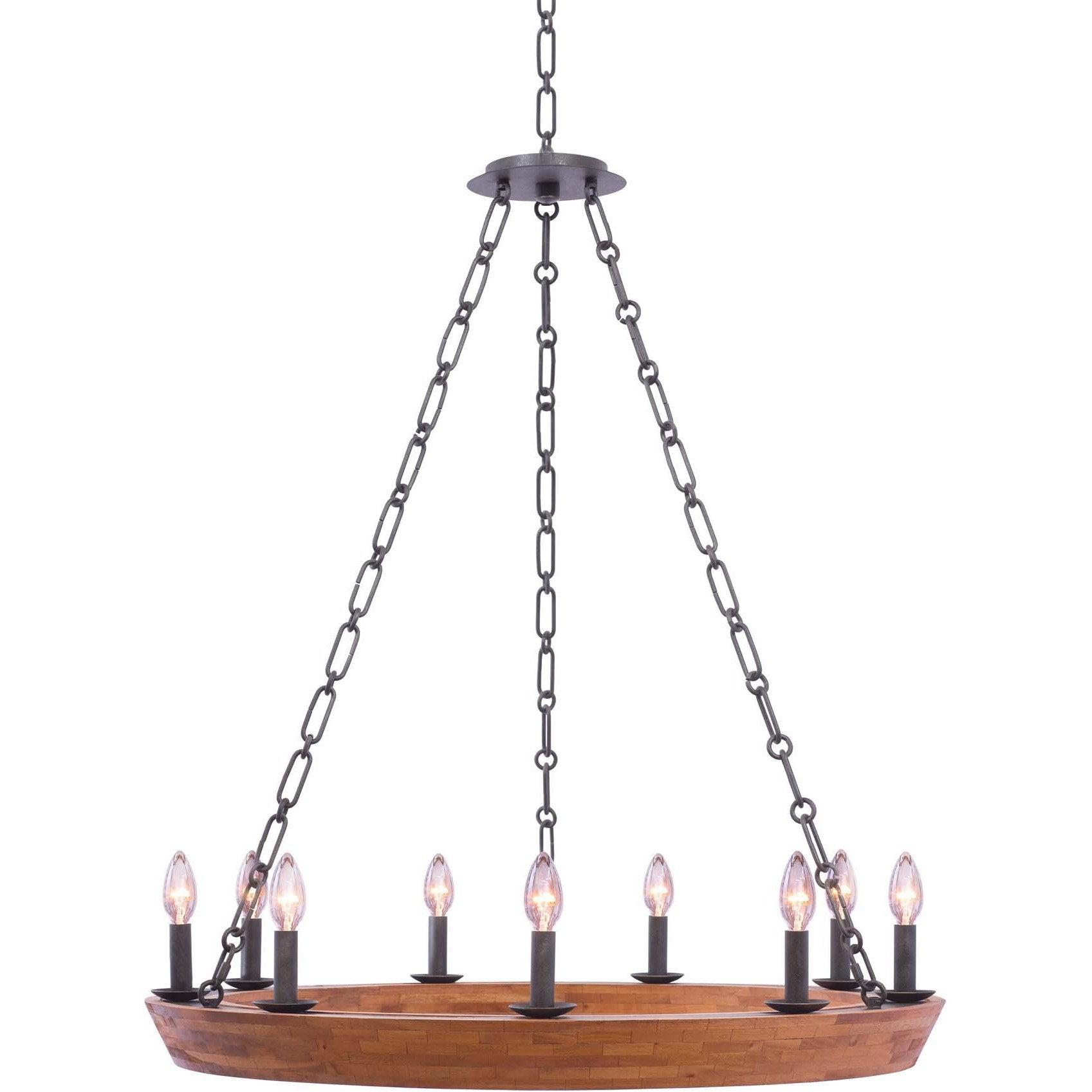 Kalco Lighting Chandeliers Black Iron Lansdale 9 Light Chandelier By Kalco Lighting 505555
