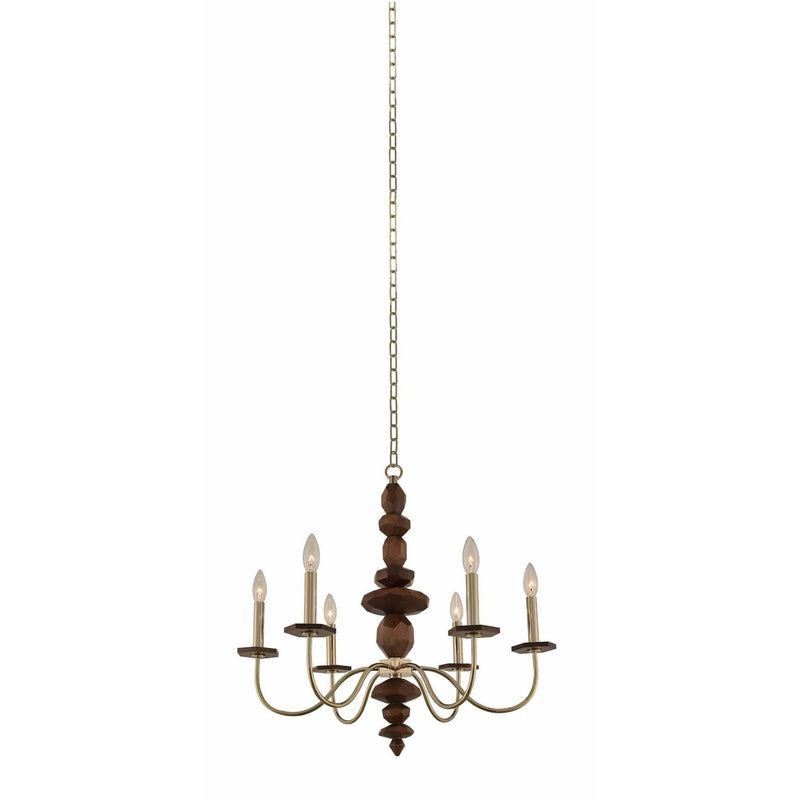 Kalco Lighting Chandeliers Champagne Gold Lassen 6 Light Chandelier By Kalco Lighting 304950