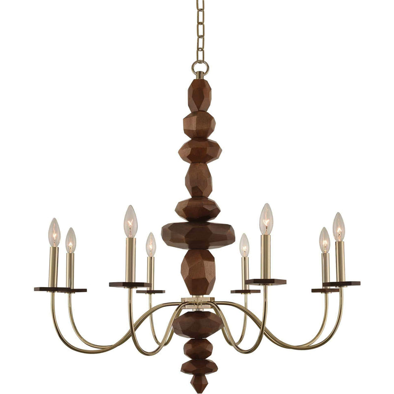 Kalco Lighting Chandeliers Champagne Gold Lassen 8 Light Chandelier By Kalco Lighting 304951