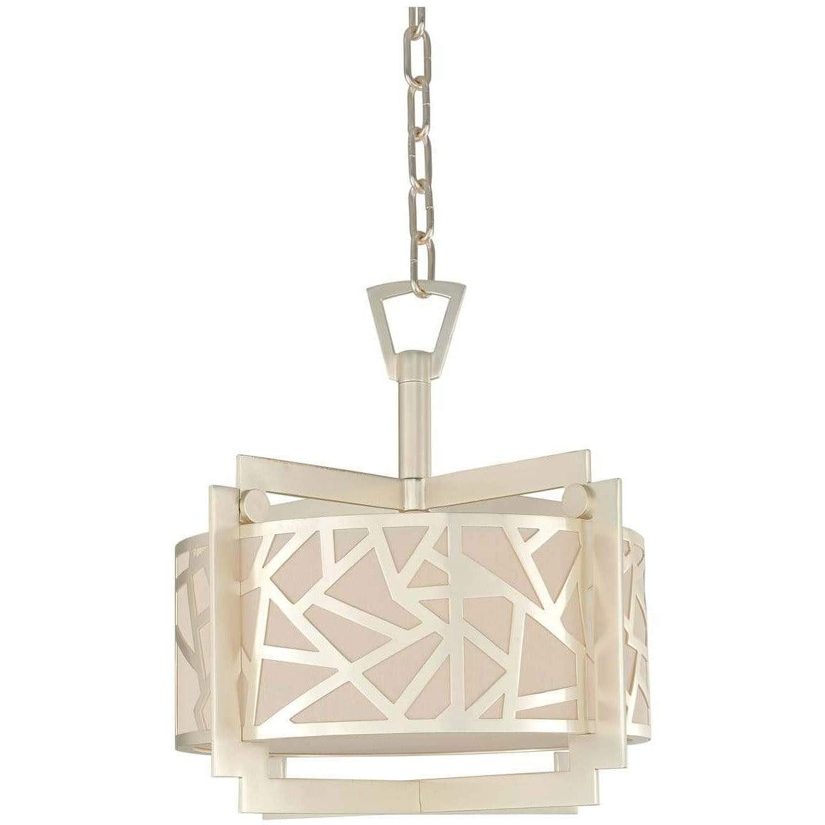 Kalco Lighting Dual Mounts Rose Silver Miramar 16 Inch Convertible Pendant - Semi Flush Mount By Kalco Lighting 303552