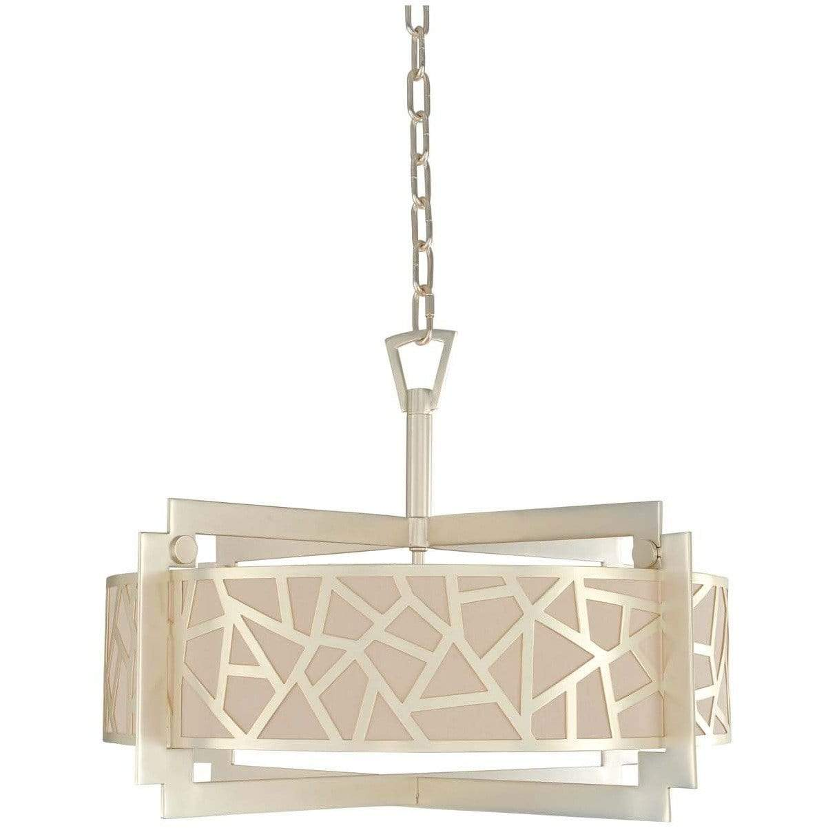 Kalco Lighting Dual Mounts Rose Silver Miramar 26 Inch Convertible Pendant - Semi Flush Mount By Kalco Lighting 303553
