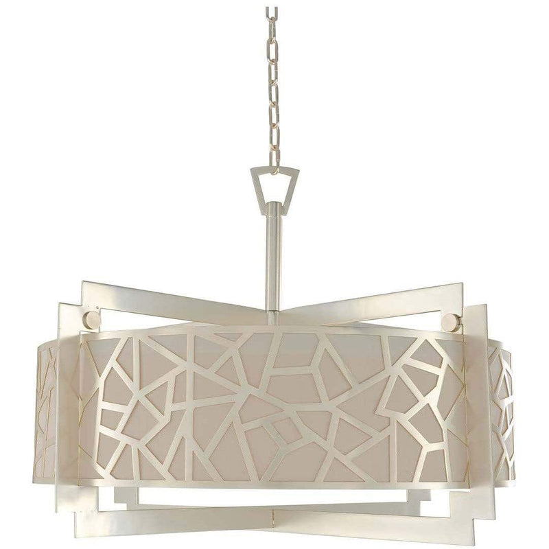 Kalco Lighting Dual Mounts Rose Silver Miramar 32 Inch Convertible Pendant - Semi Flush Mount By Kalco Lighting 303554