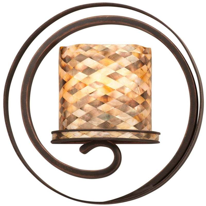 Kalco Lighting Wall Sconces Antique Copper / Monaco Black Lip ADA Shade Monaco 1 Light Ada Wall Sconce By Kalco Lighting 6010