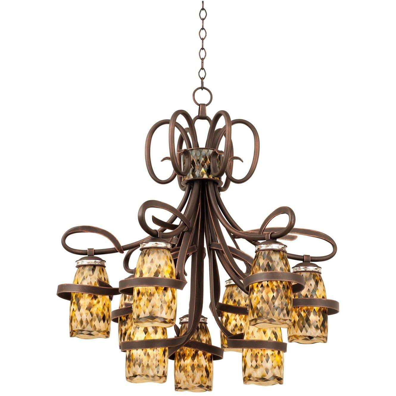 Kalco Lighting Chandeliers Monaco 9 Light Chandelier By Kalco Lighting 6023