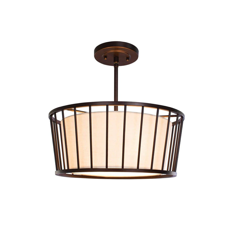 Kalco Lighting Dual Mounts Bronze Pacifica 16 Inch Convertible Pendant - Semi Flush By Kalco Lighting 507040