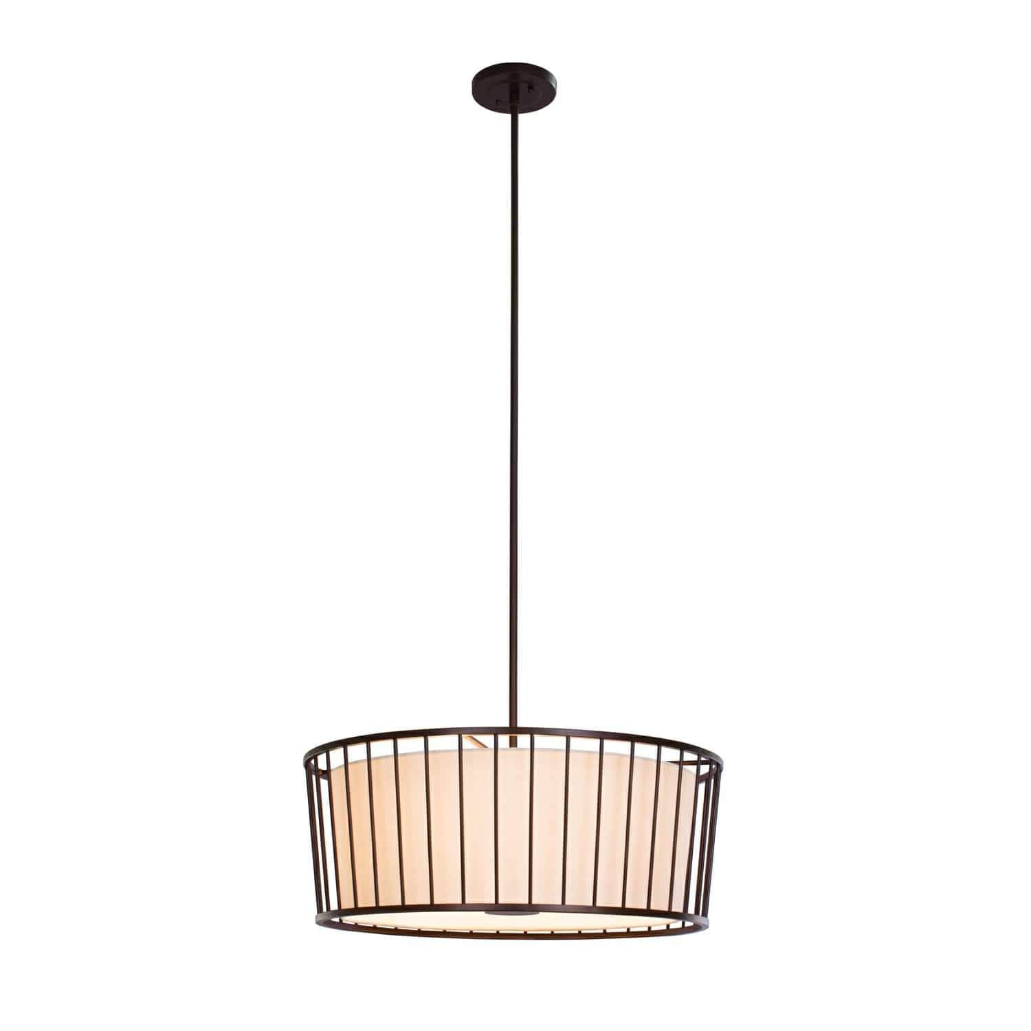 Kalco Lighting Pendants Bronze Pacifica 24 Inch Convertible Pendant - Semi Flush By Kalco Lighting 507052