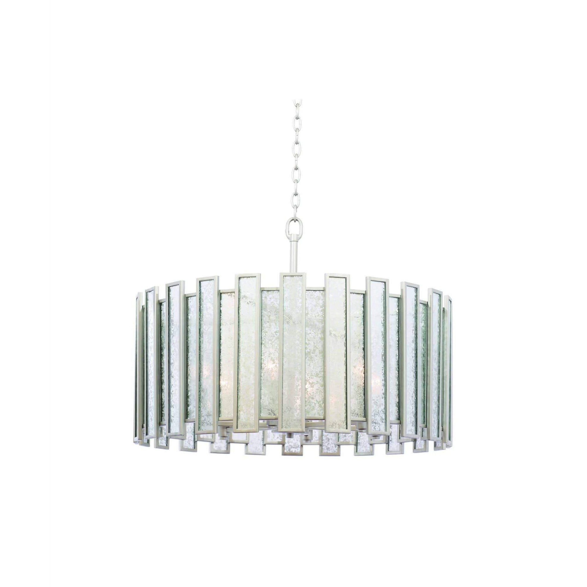 Kalco Lighting Pendants Tarnished Silver Palisade 27 Inch Convertible Pendant - Semi Flush Mount By Kalco Lighting 505054