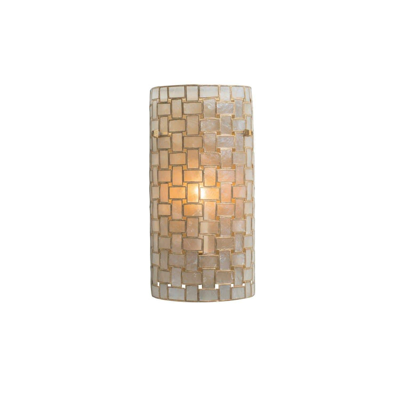 Kalco Lighting Wall Sconces Oxidized Gold Leaf Roxy 2 Light Ada Sconce By Kalco Lighting 505820