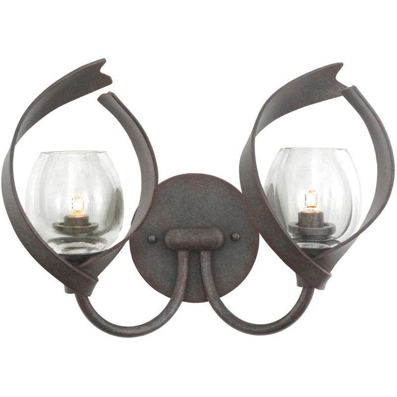 Kalco Lighting Wall Sconces Oxidized Copper Solana 2 Light Bath By Kalco Lighting 504222