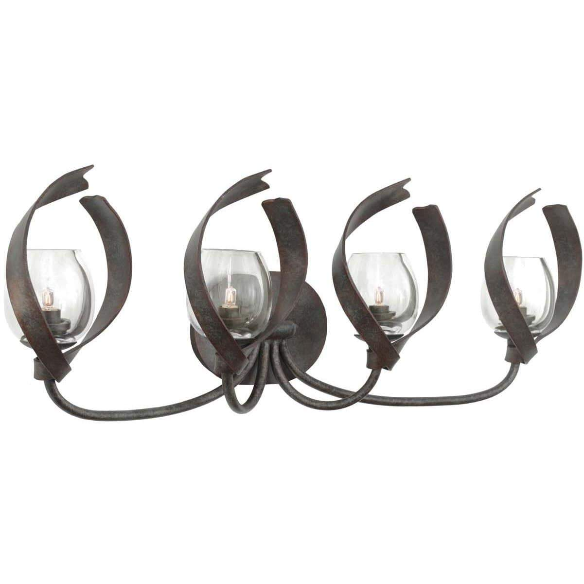 Kalco Lighting Wall Sconces Oxidized Copper Solana 4 Light Bath By Kalco Lighting 504224