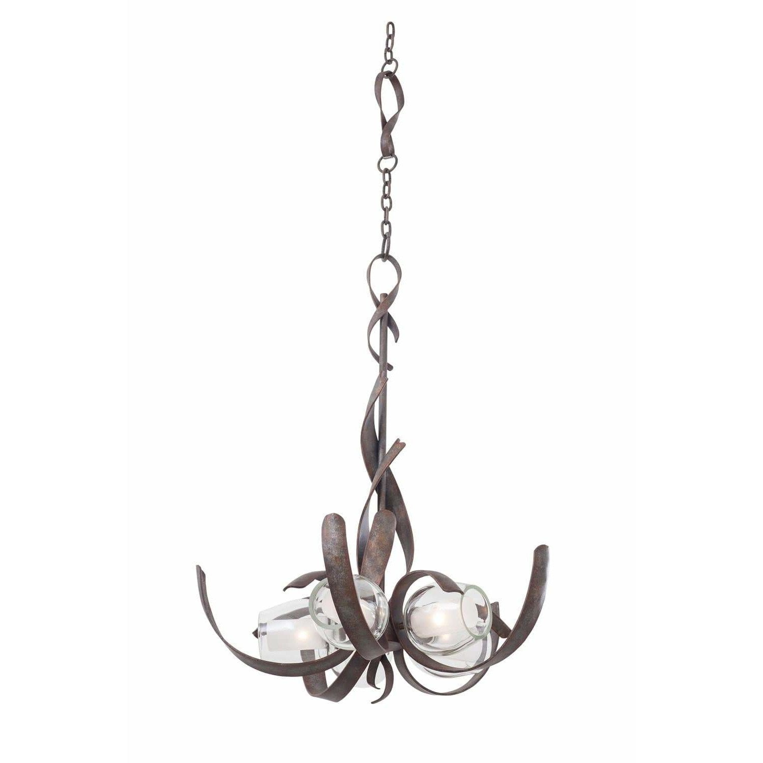 Kalco Lighting Chandeliers Oxidized Copper Solana 5 Light Chandelier By Kalco Lighting 7550