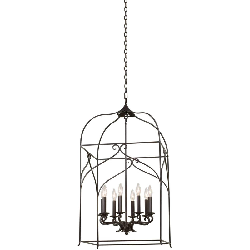 Kalco Lighting Pendants Heirloom Bronze Somers Large Hanging Lantern By Kalco Lighting 508252