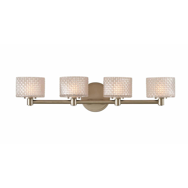 Kalco Lighting Wall Sconces Chrome Willow 4 Light Bath By Kalco Lighting 315534