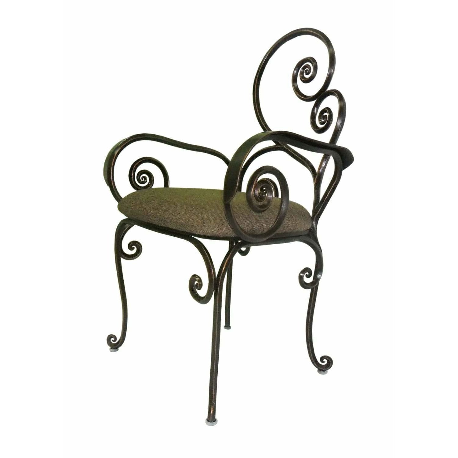 Kalco Lighting Chairs Antique Copper Windsor Indoor-Outdoor Chair With Arms By Kalco Lighting F781